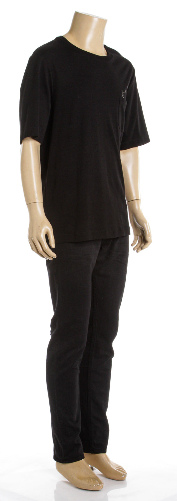 Louis Vuitton Black Cotton Short Sleeve T-Shirt (Size XXL)