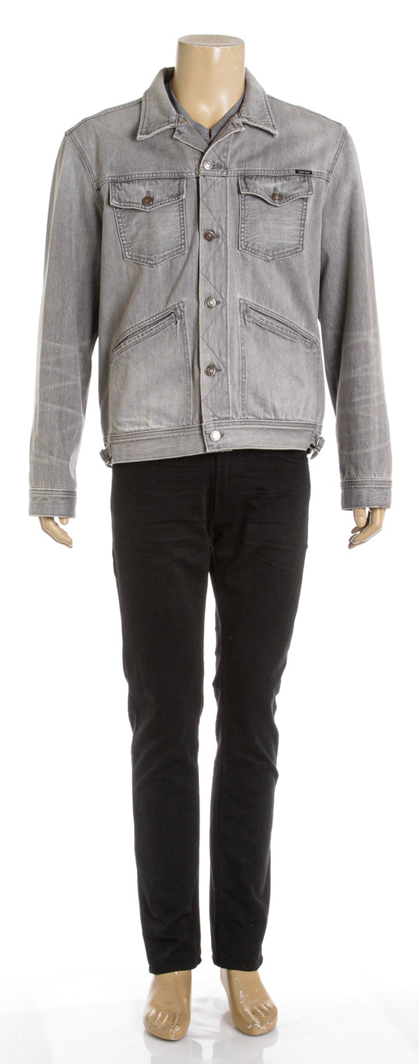 Tom Ford Gray Denim 'Icon' Trucker Jacket (Size XL)
