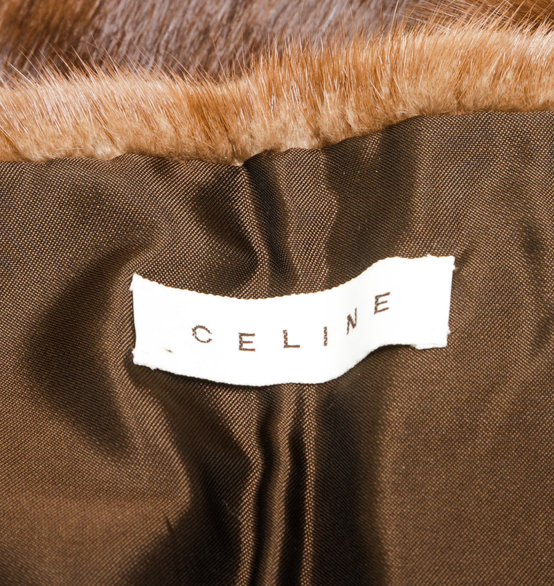 Celine Brown Mink Fur Stole