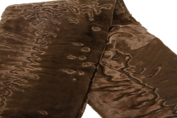 Celine Brown Astrakan Fur Stole