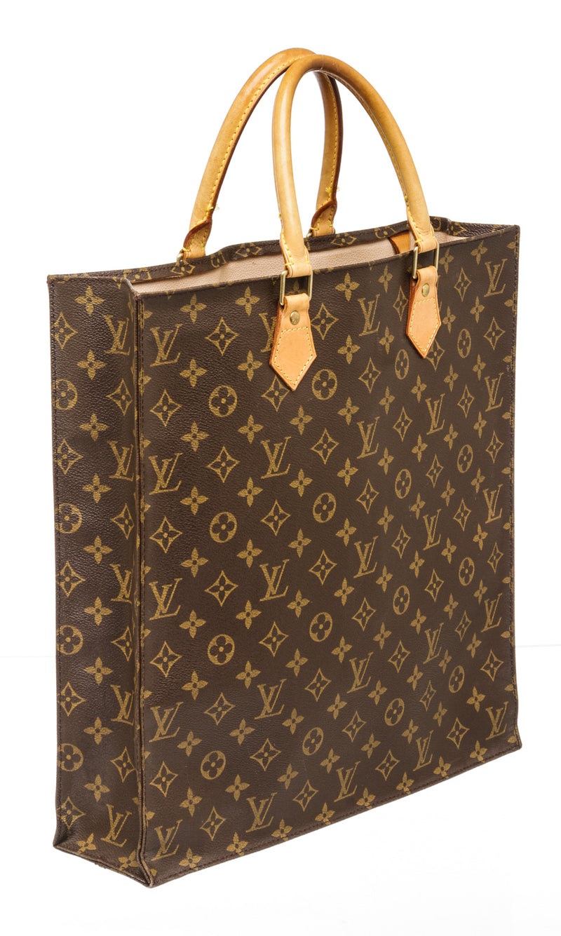 Louis Vuitton Brown Monogram Sac Plat Tote Bag
