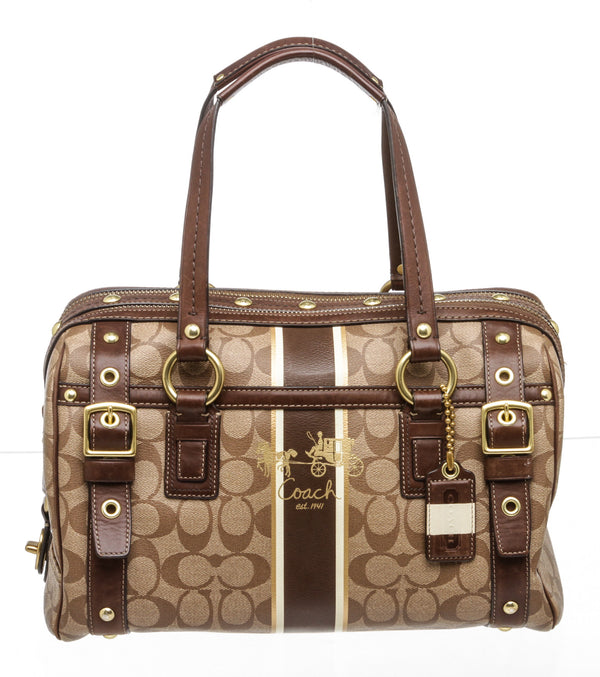 Coach Brown Monogram Coated Canvas Doctor's Bag