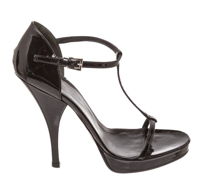 Prada Black Patent Leather Sandals (Size 39.5)