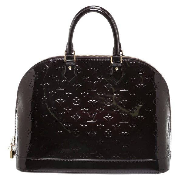 Louis Vuitton Amarante Vernis Alma GM Handbag