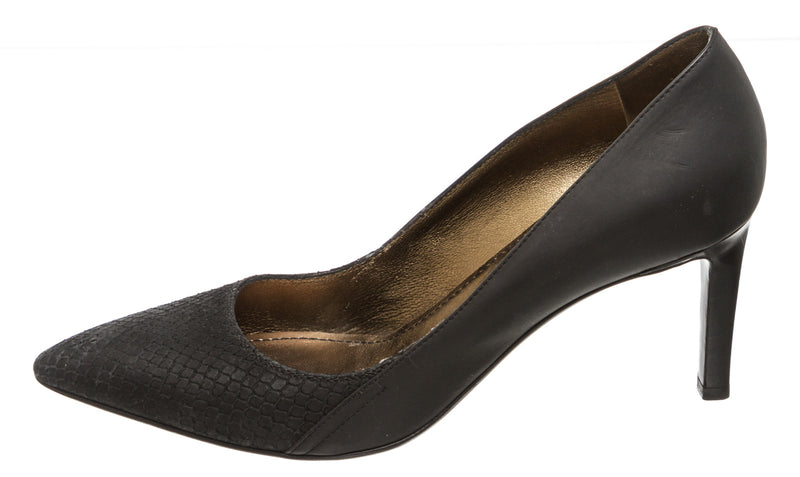 Lanvin Black Embossed Leather Pump (Size 38)