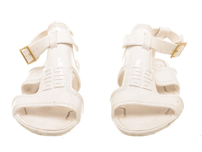 Givenchy White Jelly Gladiator Sandals (Size 40)