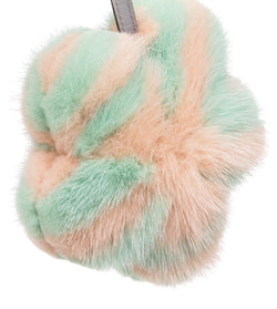 Fendi Multicolor Mink Medea Flower Bag Charm