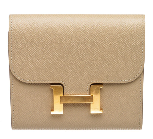 Hermes Trench Epsom Leather Constance Compact Wallet