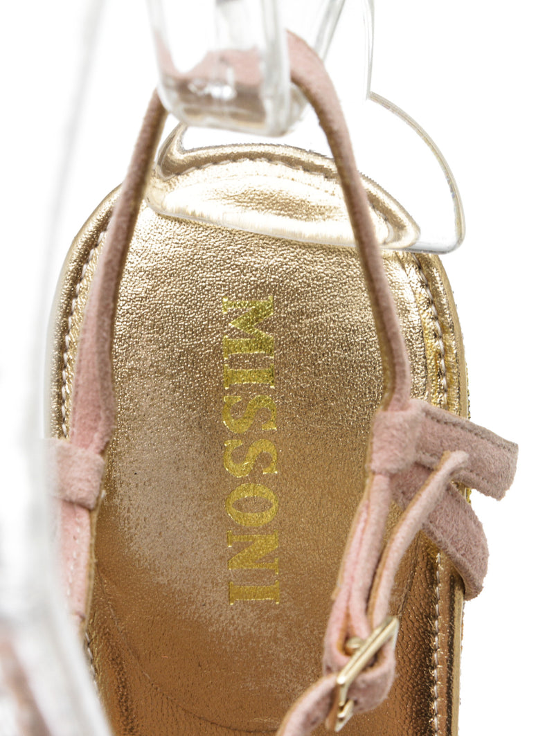 Missoni Multicolor Suede and Canvas Bow Sandals (Size 38.5)