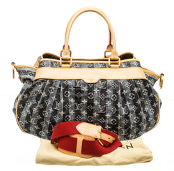 Louis Vuitton Blue Denim Porte Epaule Cruise Raye Cabas GM