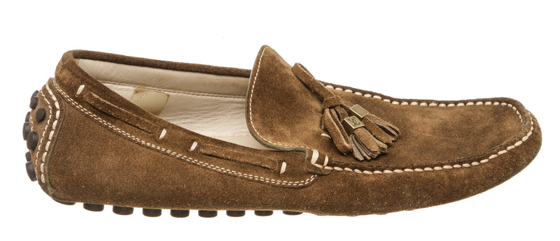 Louis Vuitton Taupe Suede Men's Moccasins (Size 38)