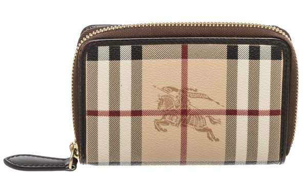 Burberry Haymarket Nova Check Coated Canvas Bi-Fold Wallet