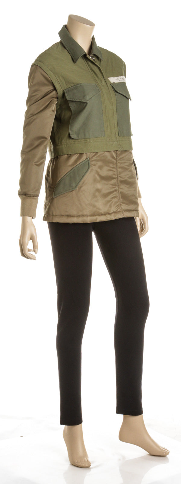 Rag and Bone Green and Khaki Cotton and Nylon Multi-functional Jacket (Size XXS)