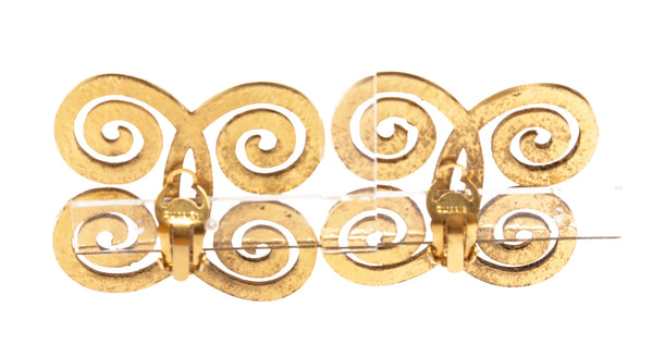 Chanel Gold Vintage Swirl Earrings