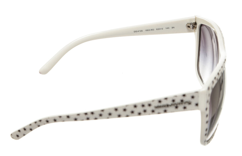 Dolce & Gabbana White and Black Star Detail DG4125 Sunglasses