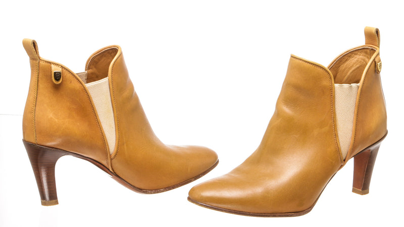 Chloe Tan Leather Ankle Boots (Size 41.5)