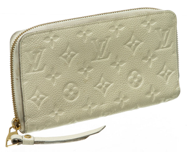 Louis Vuitton Cream Empreinte Zippy Wallet