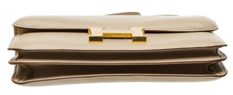 Hermes Argile Veau Swift Constance Elan Shoulder Bag