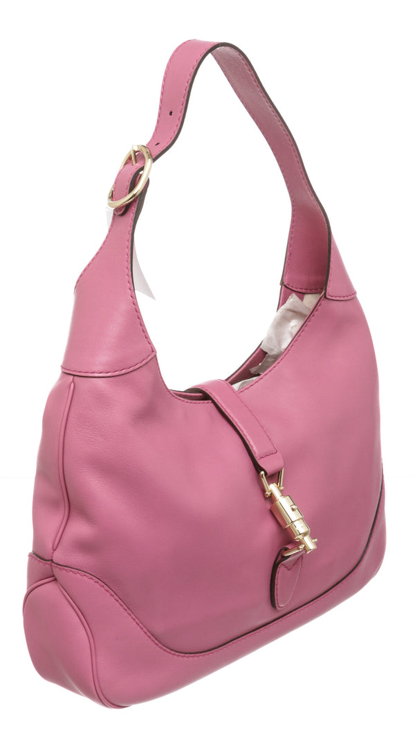 Gucci Pink Leather Jackie Hobo Bag