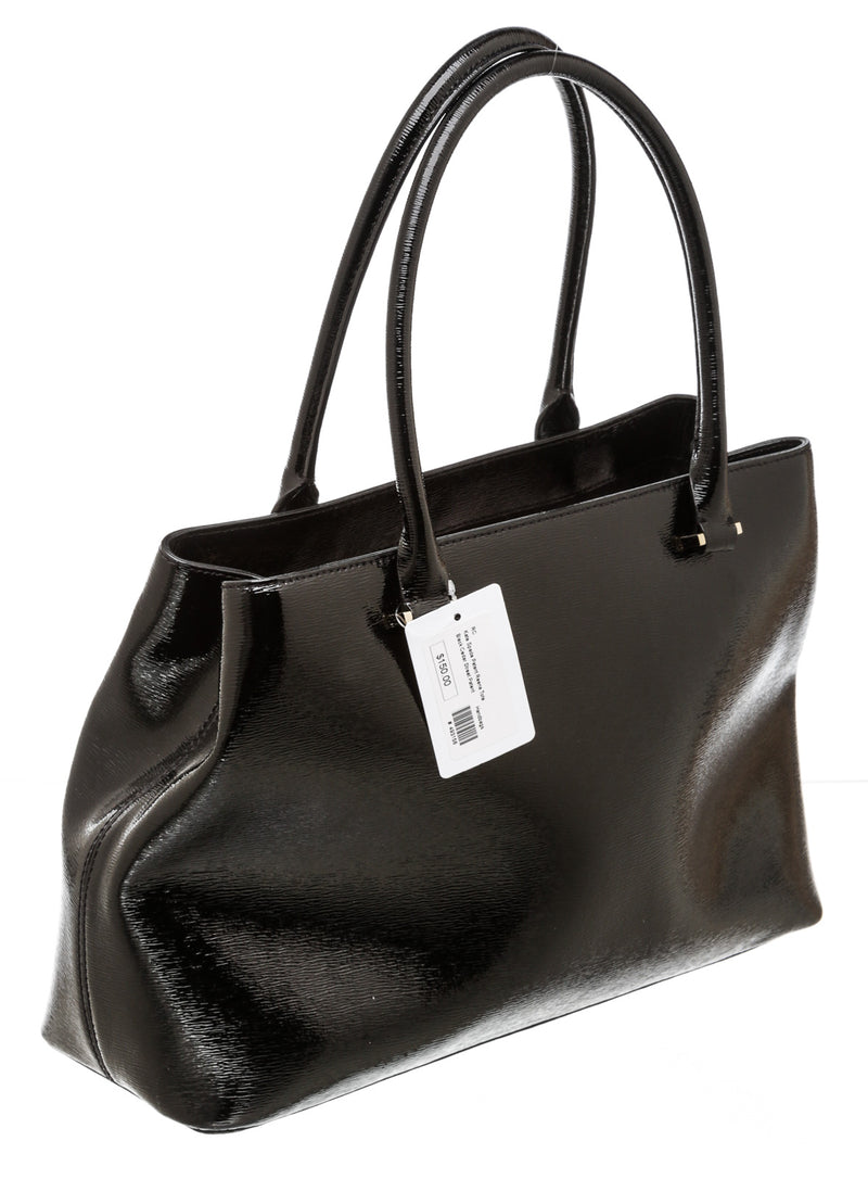 Kate Spade Black Patent Leather 'Reena' Tote Bag