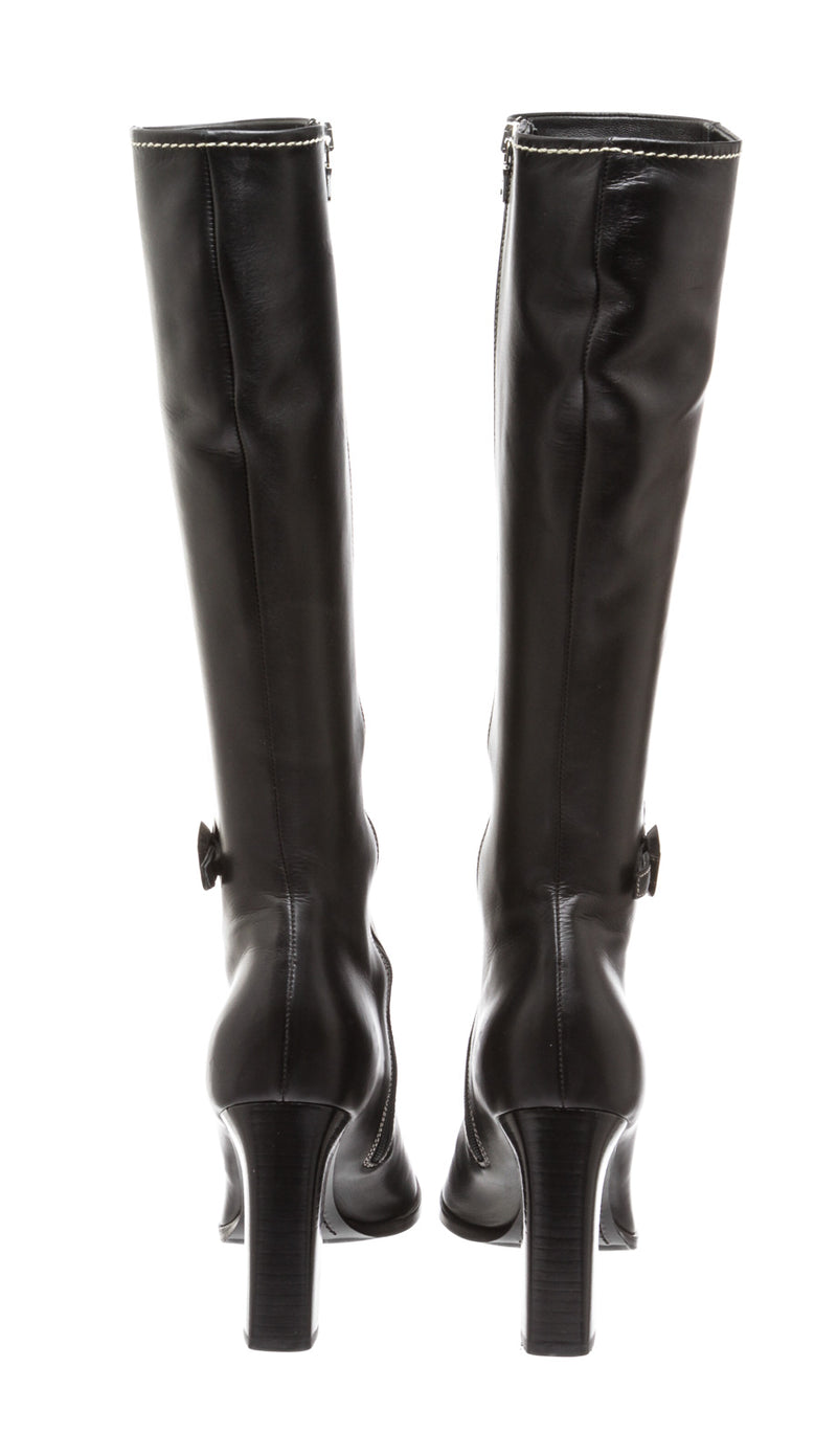 Prada Black Leather Boots (Size 40)