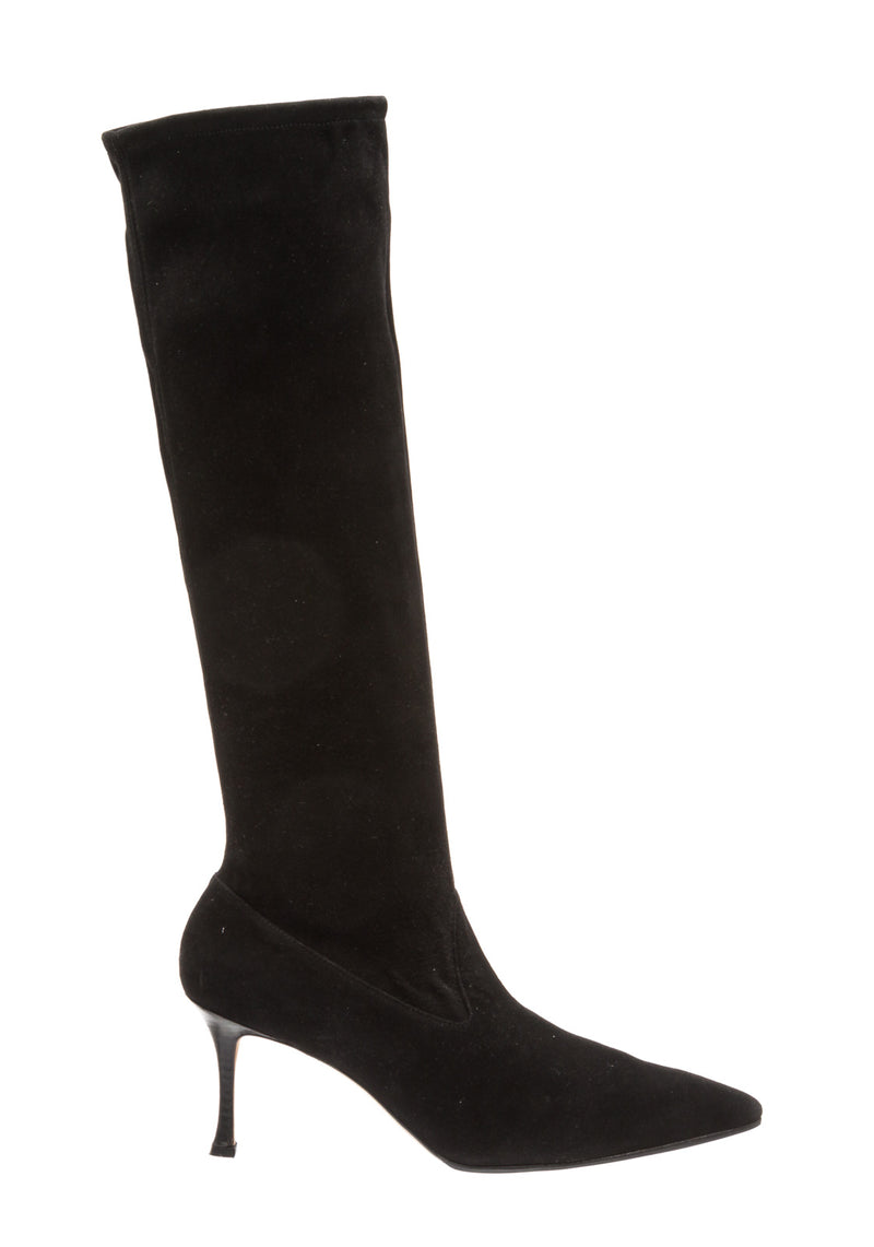 Manolo Blahnik Black Suede Knee High Boots (Size 40)