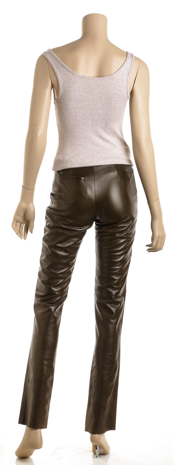 Gucci Olive Green Leather Pants (Size 38)
