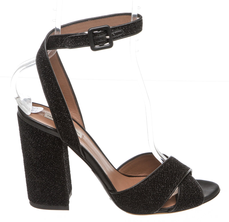 Tabitha Simmons Black 'Connie' Ankle Strap Sandal (Size 39.5)