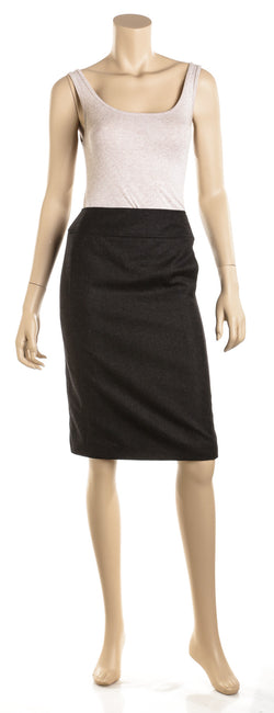 Chanel Gray Cashmere Blend Skirt (Size 38)