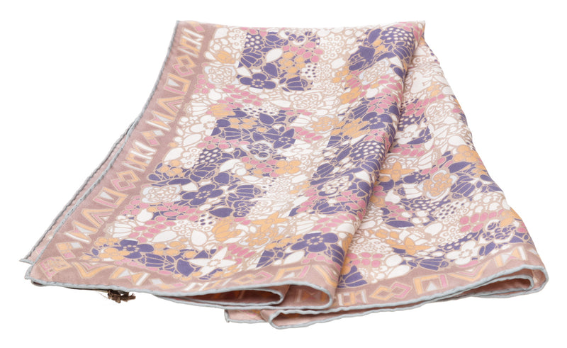 Louis Vuitton Pink Multicolor Silk Scarf