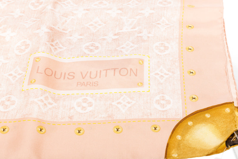 Louis Vuitton Pink Silk Scarf
