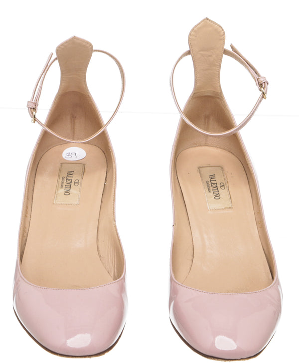 Valentino Pink Patent Leather 'Tango' Pumps (Size 39)