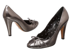 Moschino Cheap & Chic Metallic Gray Pumps (Size 7)