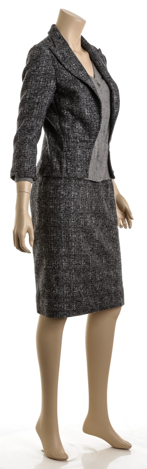 Dolce & Gabbana Gray Alpaca and Cashmere Tweed Two-Piece Suit (Size S)