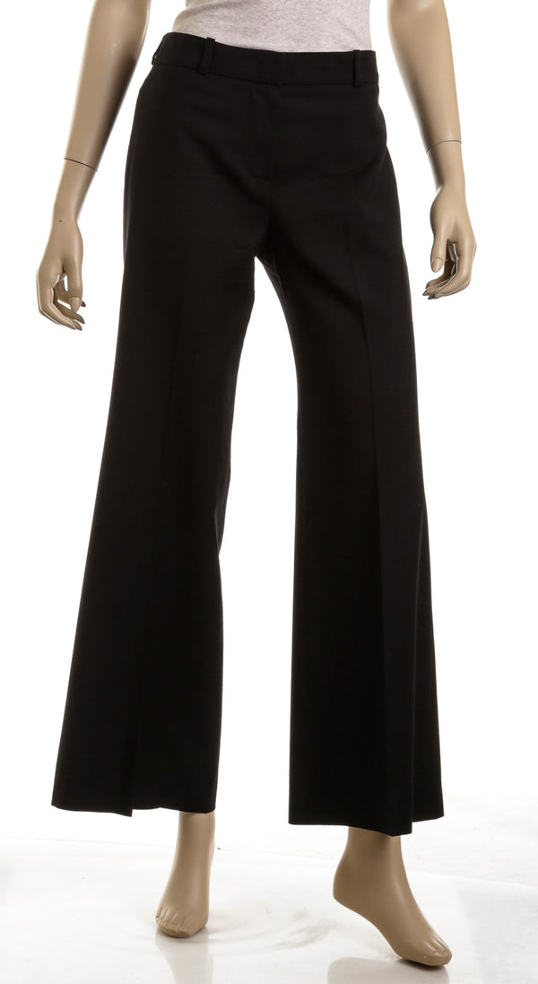 Chloe Black Wool Wide Leg Pants  (Size 40)