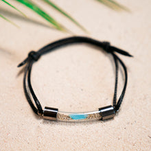 Load image into Gallery viewer, Ocean Plastic Waste in Sand Glass Vial Bracelet