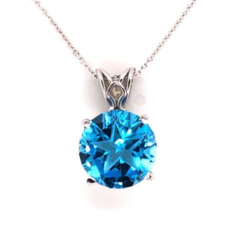 lone star cut texas blue topaz white gold necklace austin atx