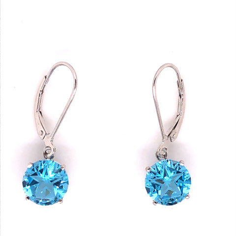 lone star cut blue topaz white gold earrings fashion jewelry austin texas atx