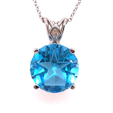lone star cut blue topaz white gold necklace austin texas atx