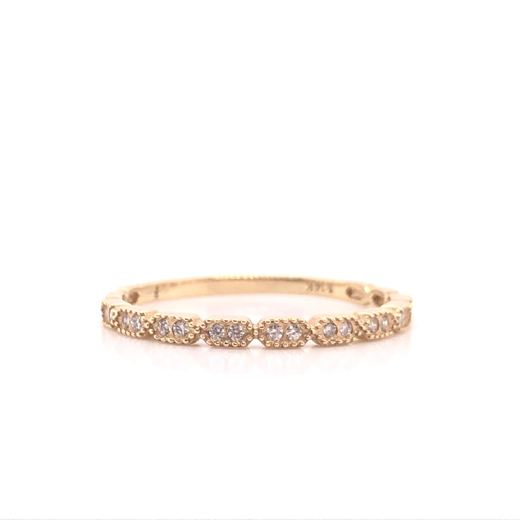 Janie Diamond Milgrain Stack Ring