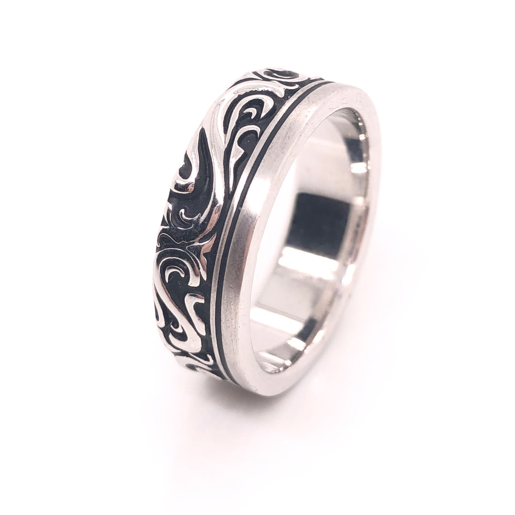 Classic Scroll Ring - CaleesiDesigns