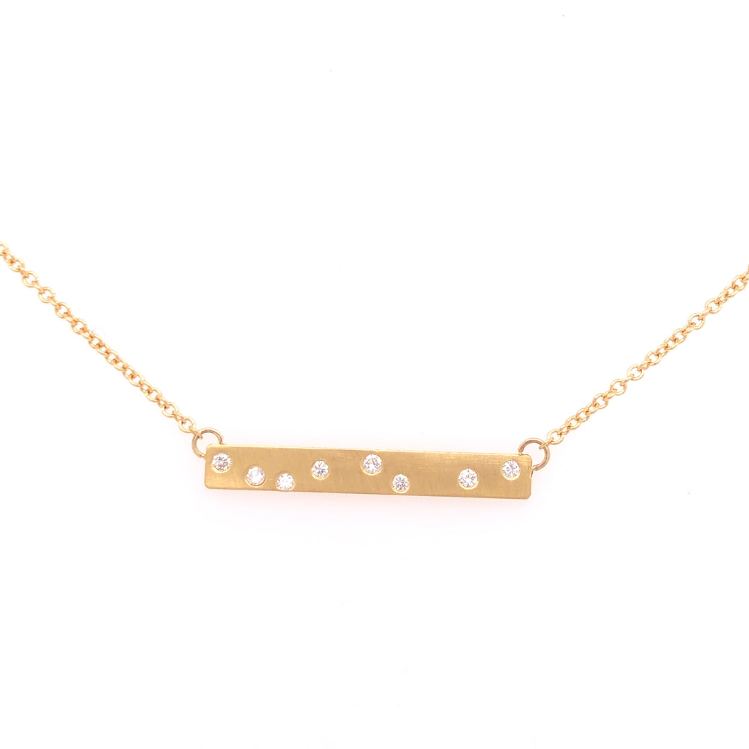 Satin Gold Bar Necklace - CaleesiDesigns