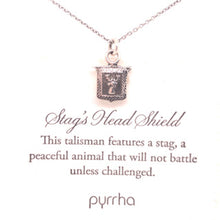 Load image into Gallery viewer, Stag's Head Shield Pyrrha Necklace - CaleesiDesigns
