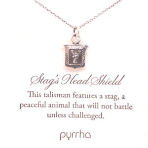 Stag's Head Shield Pyrrha Necklace - CaleesiDesigns