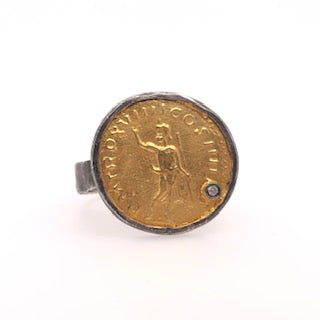 Gold Kratos Coin Ring - CaleesiDesigns