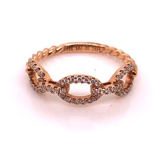 Chain Link Diamond Stack Ring