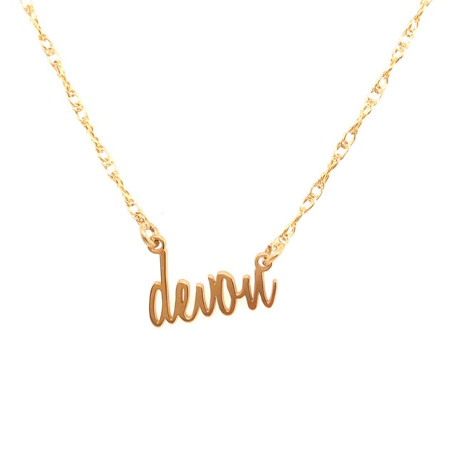 custom name necklace-symbolize yourself-name-custom-hand written-unique gold jewelry