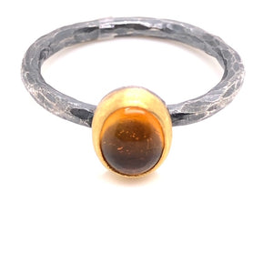 Oval Citrine Candy Ring - CaleesiDesigns