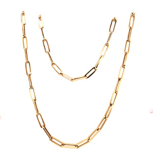 Yellow Gold Paperclip Chain