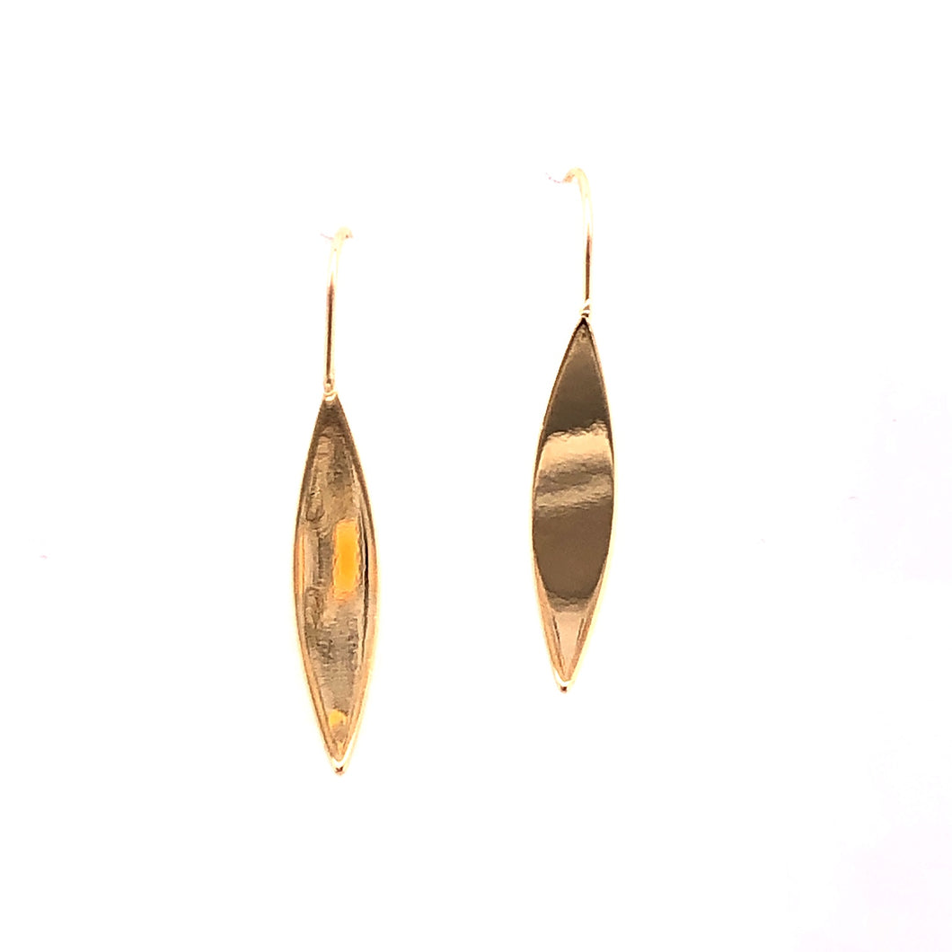 Yellow Gold Petal Earrings